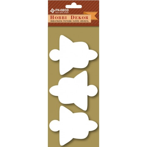Deco-foam shapes - Bell / Angel (6-8cm)