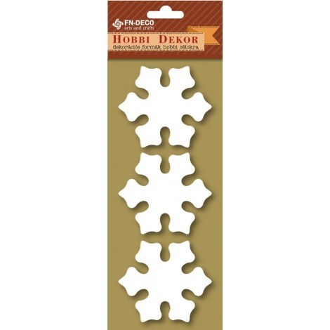 Deco-foam shapes - snowflake (6-8cm)