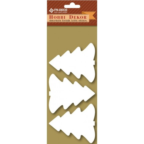Deco-foam shapes - pine trees (6-8cm)