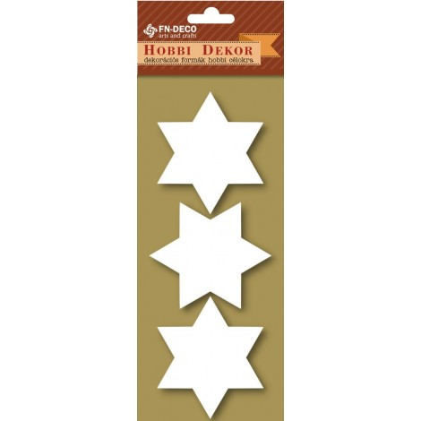 Deco-foam shapes - stars (6-8cm)