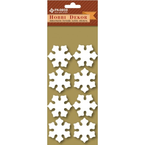 Deco-foam shapes - snowflakes (3-4cm)