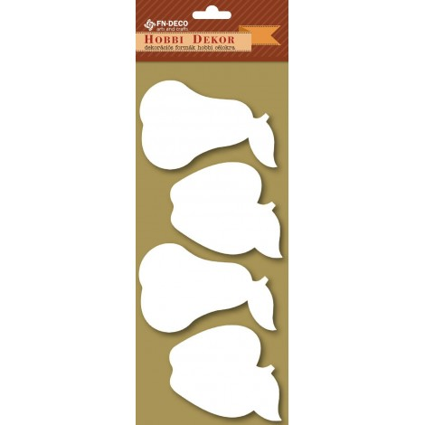Deco-foam shapes - apples and pears (8-10cm)