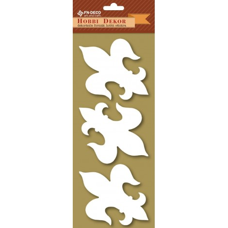 Deco-foam shapes - French lilies (8-10cm)
