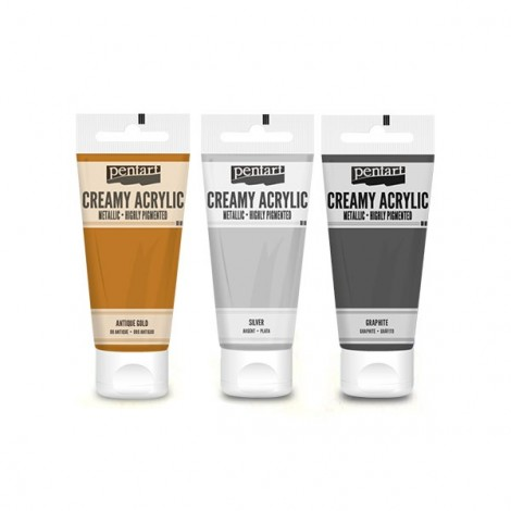 Creamy acrylic, metalic, 60 ml