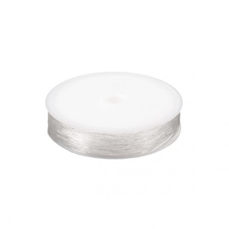 Round Elastic Jewelry Cord, 0.8 mm