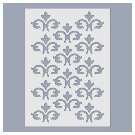 Stencil - French lily