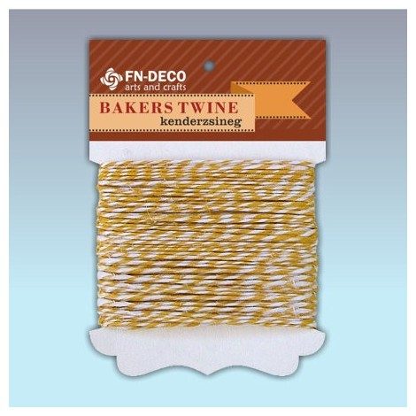 Bakers Hemp Twine - yellow (10m)