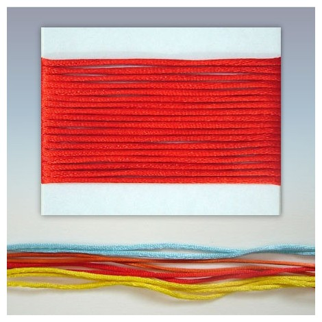 Satin cord  - red