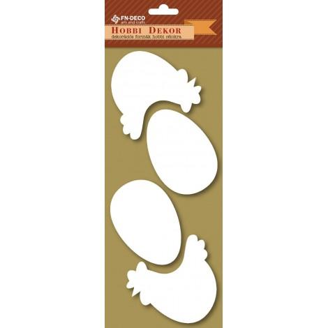 Dekorhab forma - tyúkok és tojások (8-10cm)