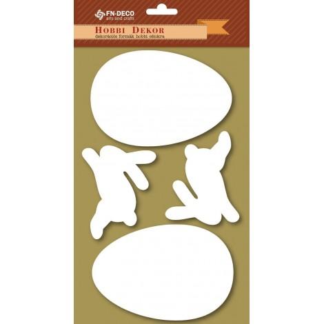 Dekorhab forma - nyuszik és tojások (6-12cm)