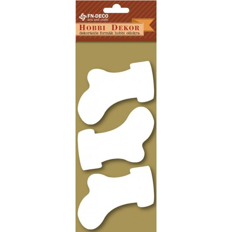 Deco-foam shapes - boots (6-8cm)