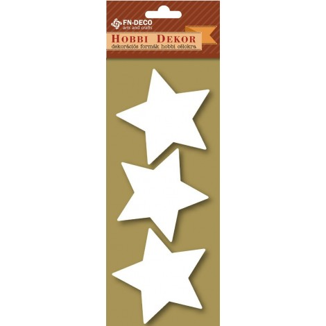 Deco-foam shapes - stars (6-8cm)