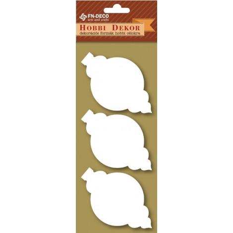 Deco-foam shapes - Christmas tree decorations (6-8cm)