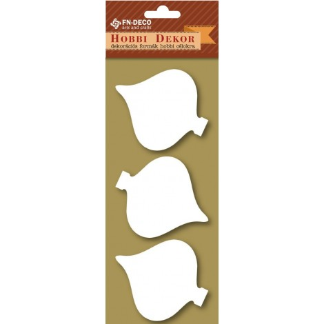 Deco-foam shapes - Christmas tree decorations (6-8cm)
