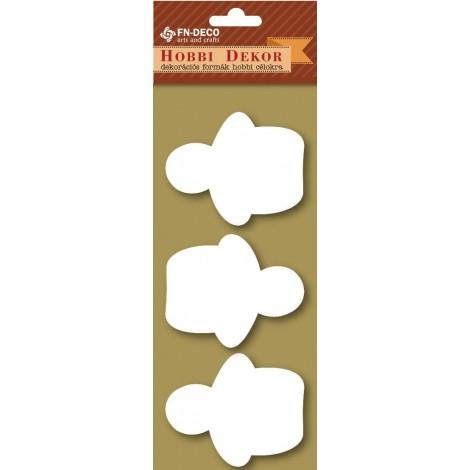 Deco-foam shapes - snowman (6-8cm)