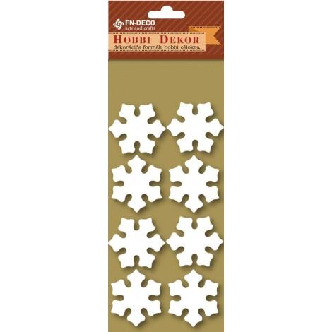 Deco-foam shapes - snowflakes (3-4cm)