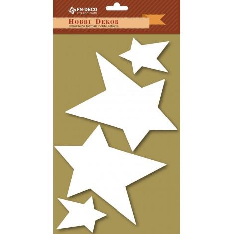 Dekorhab forma - csillagok (6-12cm)