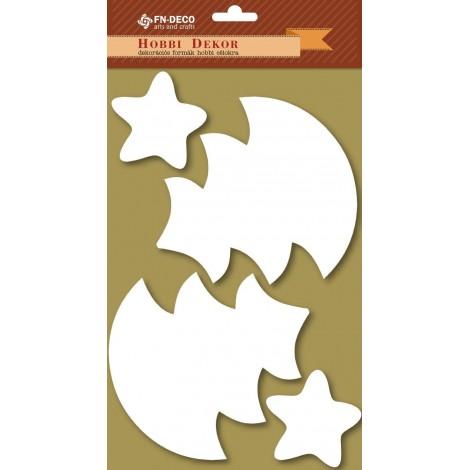 Dekorhab forma - fenyőfák és csillagok (6-12cm)