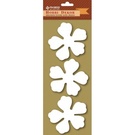 Deco-foam shapes - hibiscus (8-10cm)