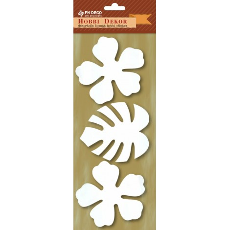 Deco-foam shapes - hibiscus and palm leaves (8-10cm)