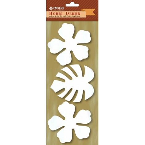 Dekorhab forma - hibiszkusz és pálmalevél (8-10cm)