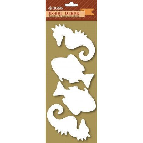 Deco-foam shapes - fish and sea horse (8-10cm)