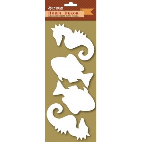 Deco-foam shapes - fish and sea horse (8-10cm)