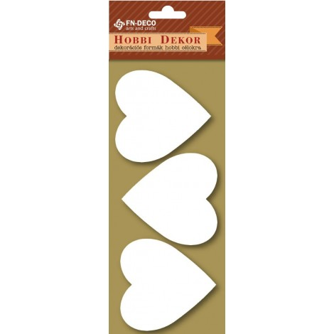 Dekorhab forma - szívek (6-8cm)