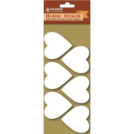 Dekorhab forma - szívek (4-6cm)