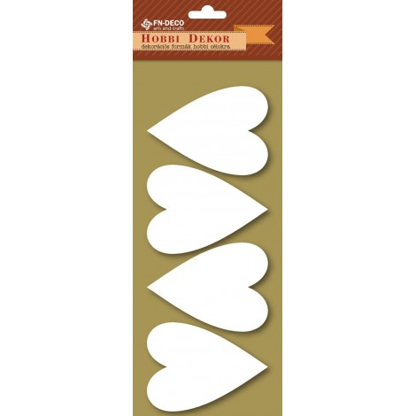 Dekorhab forma - szívek (8-10cm)