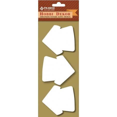 Dekorhab forma - házikók (6-8cm)
