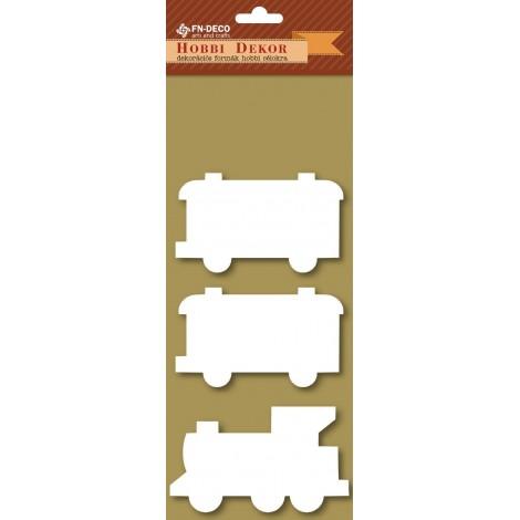 Deco-foam shapes - train (8-10cm)