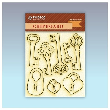 Chipboard set - locks and keys