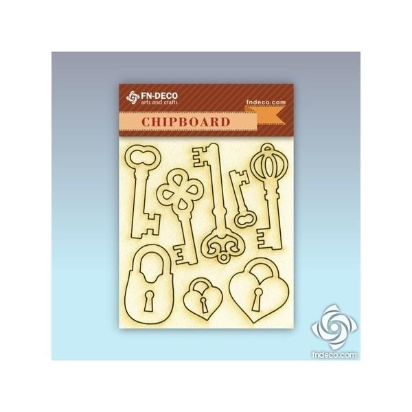 Chipboard set - locks and keys