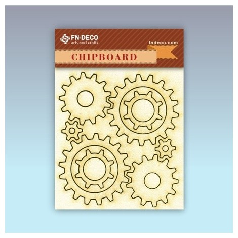 Chipboard set - gears