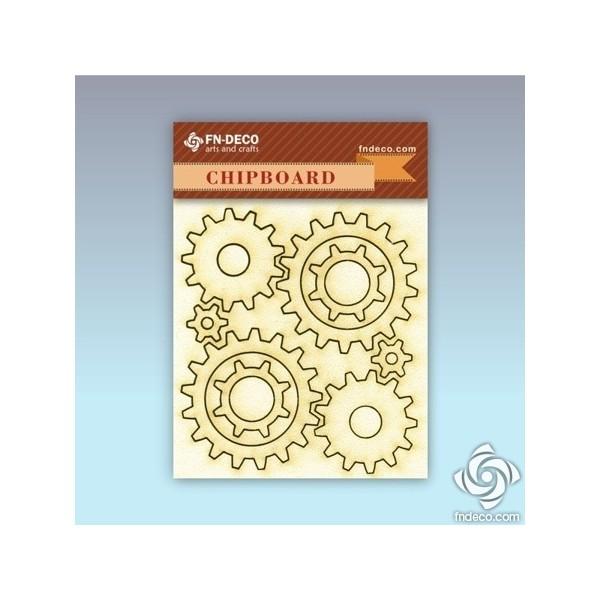 Chipboard set - gears
