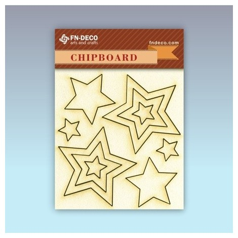 Chipboard set - stars