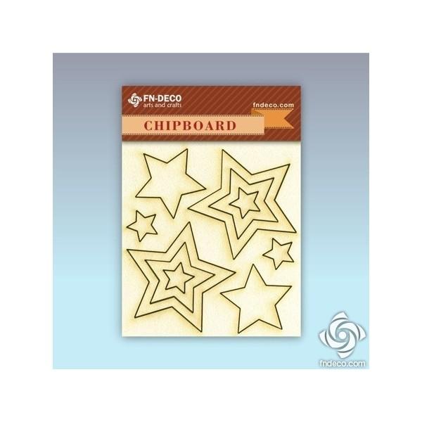 Chipboard set - stars
