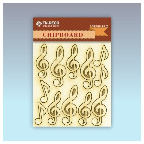 Chipboard set - violin keys