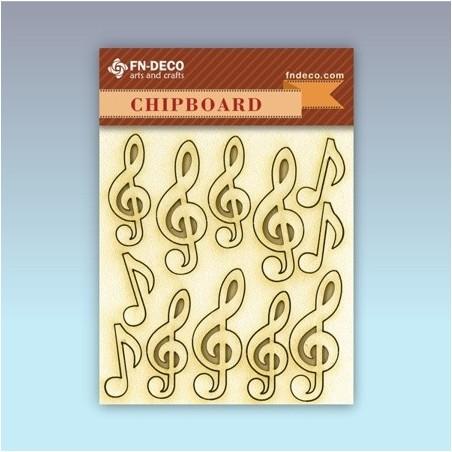 Chipboard set - violin keys