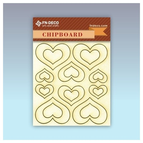 Chipboard set - hearts