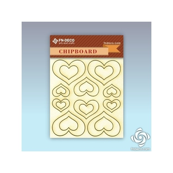 Chipboard set - hearts
