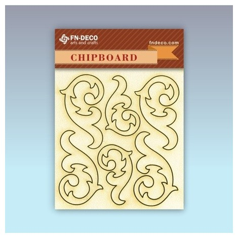Chipboard set - tendrils