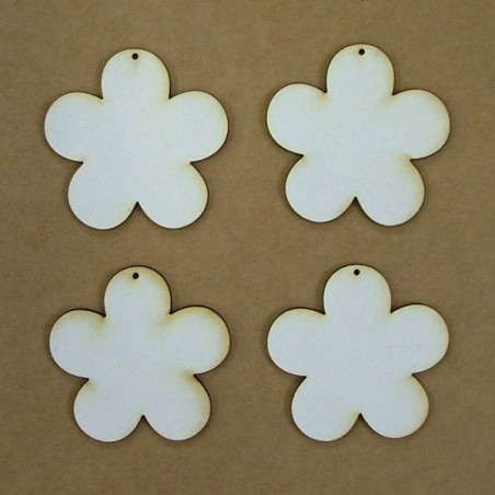 Chipboard  - flowers (5 cm)