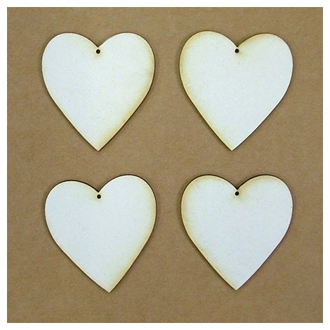 Chipboard - szív (5 cm)