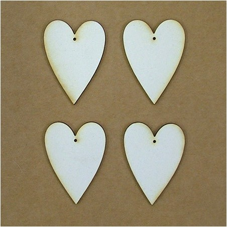 Chipboard - heart, country (5 cm)