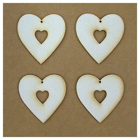 Chipboard - heart (5 cm)