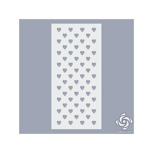 Stencil - Heart pattern