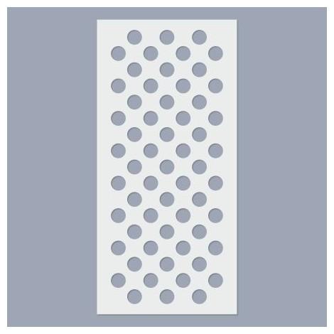 Stencil - Big dots, 7 lines