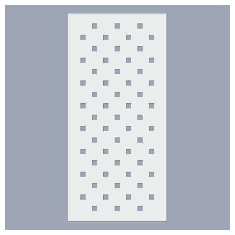 Stencil - Square pattern  5mm
